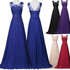 Prom V-Back Mermaid Chiffon Bridesmaid Gown Formal Evening Party Long Maxi Dress