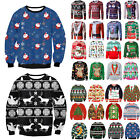 Women Men Ugly Christmas Sweatshirt Xmas Knitted Sweater Pullover Jumper Tops