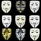 Anonymous Hacker V For Vendetta Cosplay Mask Fancy Dress Party Props Christmas