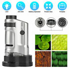 20X-40X Zoom Pocket Microscope Mini Handheld LED Lighted Micro Magnifier Loupe