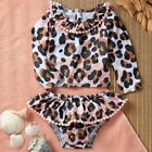 Mud Pie E1 Baby Girl Safari Leopard Rash Guard 2pc Set 11020059 Choose Size