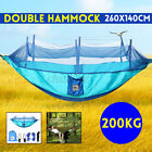 200KG Travel Camping Hanging Hammock Bed Mosquito Net Survival Kit 1-2 Person US
