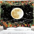 Hippie Flowers Tapestry Art Throw Wall Hanging Trippy Tapestries for Home Decor