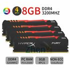 32GB 16GB 8GB DDR4 3200MHz HX432C16FB3A/8 RGB XMP Desktop Memory For HyperX Fury