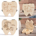 Creative Design Wooden Tooth Storage Boxes Tooth Case Organizer Baby Teeth Box