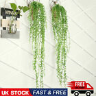 Artificial Hanging Plant Fake Vine Ivy Succulents String Of Pearls Home Decor