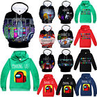 Kids Boys Among Us Game 3D Print Hoodie Sweatshirt Pullover Casual Funny Tops