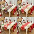 Christmas Embroidered Tablecloth Santa Claus Floral Placemat Decor Party K8z3