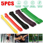 Heavy Duty Resistance Bands Set 5 Yoga Loop Gym Exercise Pull-up Fitness Workout