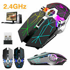 Adjustable DPI RGB LED Wireless Gaming Mouse Ergonomic Rechargeable Mice 2.4GHz