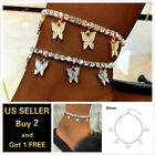Внешний вид - Fashion Butterfly Anklet Ankle Bracelet Rhinestone Ankle Chain Women Crystal