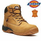 Mens DICKIES Leather Safety Boots Steel Toe Cap Work Hiking Shoes Ankle Trainers