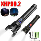 Super Bright XHP90 LED Rechargeable Flashlight 8000LM Zoom Torch Light Lamp IPX4