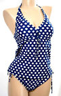 MISS CARAIBES Tankini 2 P. Sizes M  XL Color Navy Spotted '045-Cappuccino'