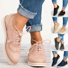 Women Sneakers Breathable Tennis Trainers Lace Up Sport Shoes Comfy Flat Shoe