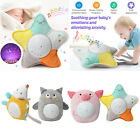 Cartoon Animal Plush Toys Star Projector Night Light with Music for Kids