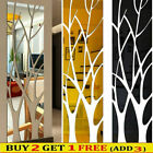 3d Tree Mirror Wall Stickers Removable Diy Art Decal Mural Acrylic  Home Decor