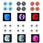 4 Pack Roller Skate Wheels Luminous Light Up, with Bearings Installed - Outdoor