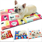 Fleece Pet Mat Cartoon Print Pet Dog Blanket Cat Dog Puppy Bed Mat Soft Mattress