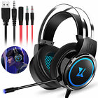 LED Stereo Gaming Headset Headphone Noise Reduction Mic for PS4/PS5/Xbox One/PC