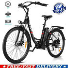 VIvi26'' Electric Bike Mountain Bicycle City Folding Ebike 21_Speed 350W Battery