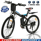26'' Electric Bike Mountain Bicycle City Folding Ebike 21^Speed 350W Battery USA