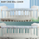 Home Soft Baby Crib Rail Cover Teething Guard Anti Bite Padded Front Side Bumpe