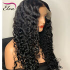 Pre-Plucked Brazilian Human Hair Wigs Deep Curly Lace Frontal Wig Baby Hair