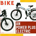 VIvi^Ebike 26'' Folding Electric Bike Mountain Bicycle City Commute 350W 21Speed