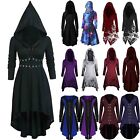Women Halloween Medieval Fancy Hooded Dress Party Gothic Witch Vampire Costume