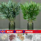 Artificial Fake Willow Leaves Silk Flowers Plant Xmas Wreath Home Hotel Decor Uk