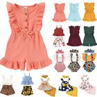Toddler Baby Girls Cute Romper Shorts Ruffle Tops Cute Summer Outfits Costume