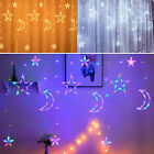 Twinkling+Star+Moon+LED+Curtain+Fairy+String+Light+Hanging+Wall+Lamp+Xmas+Party