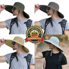 Women Men Bucket Hat Wide Brim Booine Hats Sun UV Protection Fishing Fitted Caps
