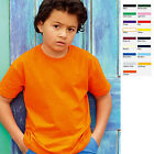5 x Fruit of the loom Kinder T-Shirt Kind 5x Shirts Value Valueweight 5er SET