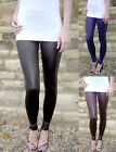 EXTRA LONG Leggings WET LOOK  Black Sizes 8 - 26  Tall
