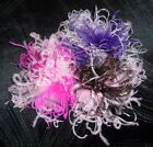 2Tone Curly Ostrich Feather Puff Hair Bow Clip Headband