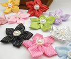 5 pairs(10pcs) of flower hair clips bows double layer girls boutique