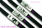 """STAINLESS STEEL and RUBBER MENS BRACELET U PICK STYLE 8.5"""" Long FREE SHIPPING"""