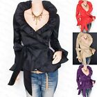 Beautiful Flounce Ruched Wrap Belt Boho Jacket