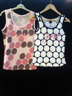 Animal Cotton and Elastane Stretch Fit Vest Top With Pattern and Print Logo