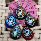 5/colors Evil Eye Lampwork Glass Drop Bead Pendant 1pc