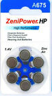 60  ZeniPower Hearing Aids Aid Batteries 10, 312, 13,  675