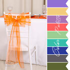 100 Wedding Party Banquet Chair Organza Sash Bow COLORS