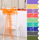 "8""x108"" 100pcs Organza Chair Sash Wedding Party Banquet Venue Decor 25+ Colors"