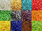 50g Glass Seed Beads Silver Lined 8/0 - Choose Colour
