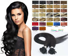 "Hot 18""-32"" U Nail Tip Fusion Keratin Remy Human Hair Extensions Full Head 100g"