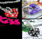 Fashion Sparkly Crystal Love Heart Necklace Pendant Jewellery For Women Girls