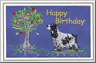 English Cocker Spaniel Birthday Card Embroidered by Dogmania