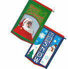 """Breeze Thru Heavy Duty Double Sided Embroidered Flag Snowman or Santa 28"""" x 41"""""""